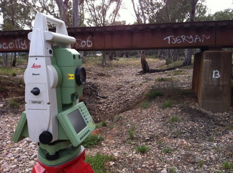 Lower Flinders Rail Bridges Surveying